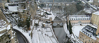 Luxemburg im Winter