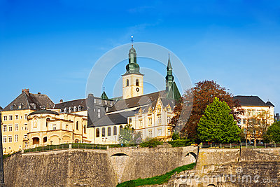 Luxemburg landmark view in sunny summer day