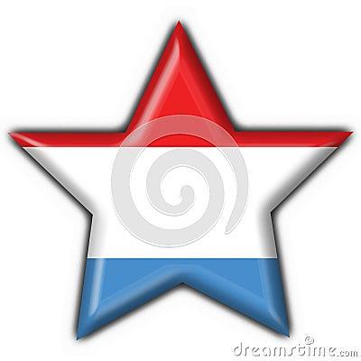 Luxemburgo abotona forma de la estrella de la bandera