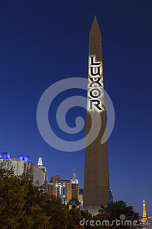 Luxor Hotel sign in Las Vegas, NV on May 31, 2013 Editorial Photography