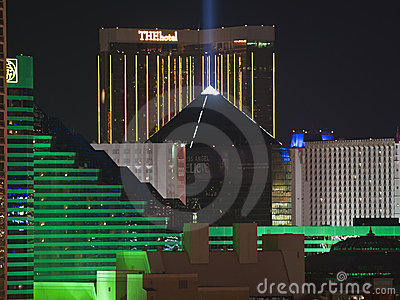 Luxor, MGM and The Hotel in Las Vegas Editorial Photography