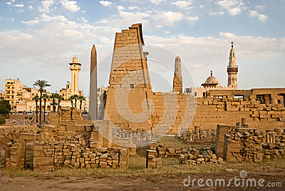 Luxor temple overview