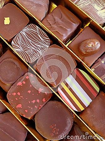 Luxuriöse Schokoladen