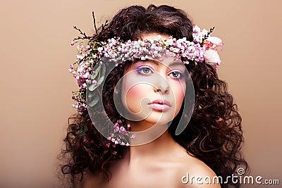 Luxuriant. Femininity. Fashion Model with Classic