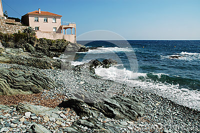 Luxuriant villa on the beach, Erbalunga, Corsica