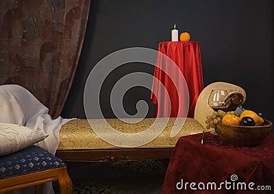 Luxurios interior of the boudoir