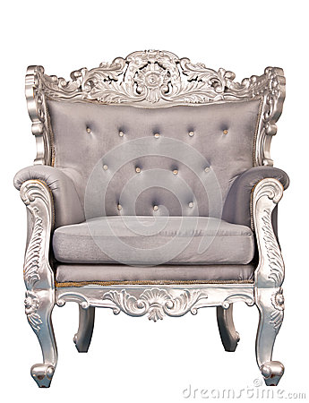 Luxurious armchair isolated