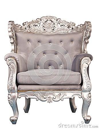 Luxurious armchair isolated
