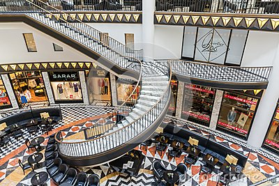 Luxurious art deco style shopping mall in Berlin Editorial Stock Image