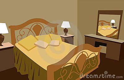 Luxurious bedroom vector