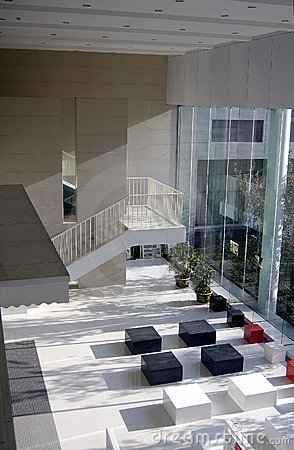 Luxurious building lobby