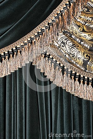 Luxurious curtain background