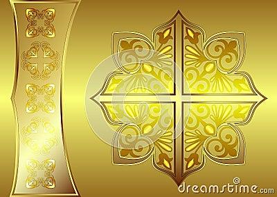 Luxurious golden banner