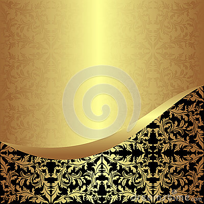 Luxurious golden ornamental Background.