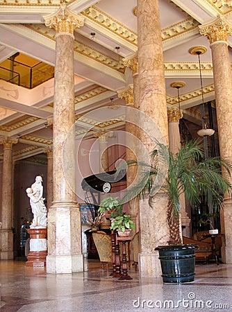Luxurious hotel lobby