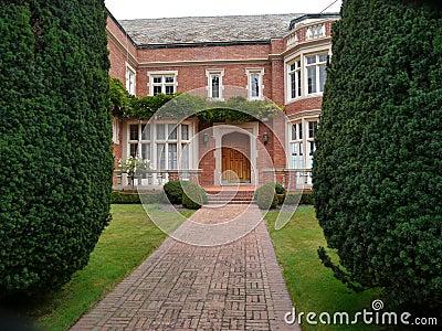 Luxurious house entrance