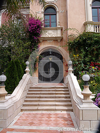 Luxurious house entrance