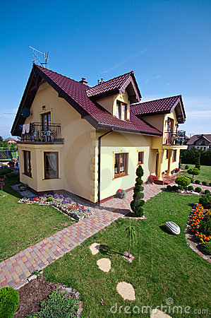 Luxurious house and garden