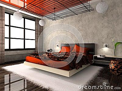 Luxurious interior of bedroom