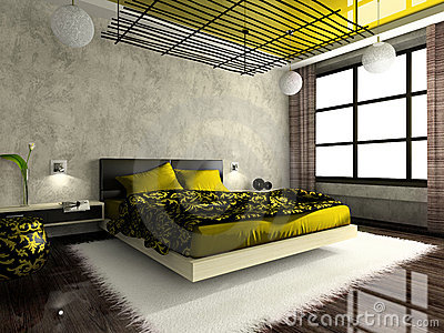Luxurious interior of bedroom