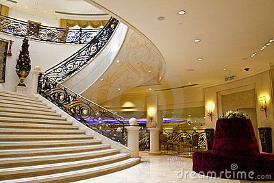 Luxurious interior staircase