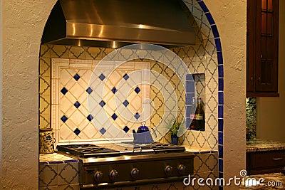 Luxurious  kitchen range