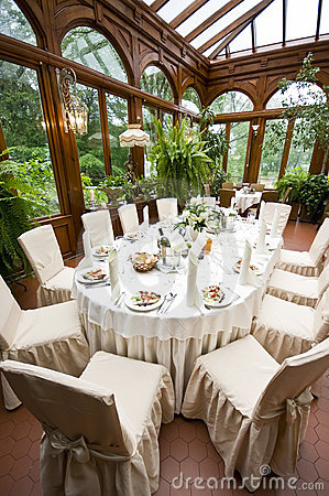 Luxurious laid wedding table