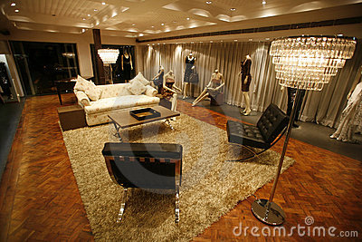 Luxurious lounge showroom