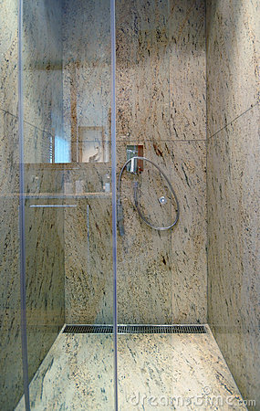 Luxurious marble shower