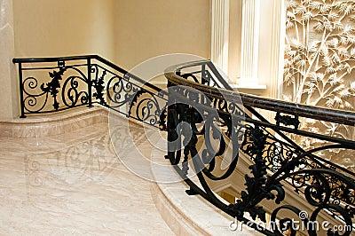 Luxurious Marble Stairway