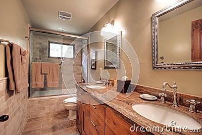 Luxurious modern bathroom