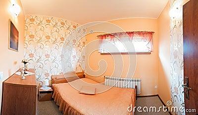 Luxurious orange bedroom