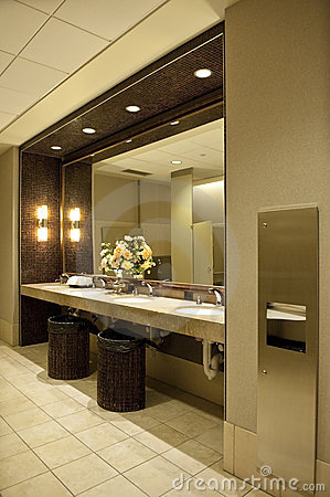 Luxurious public bathroom