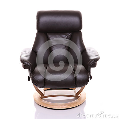 Luxurious recliner chair, front on.