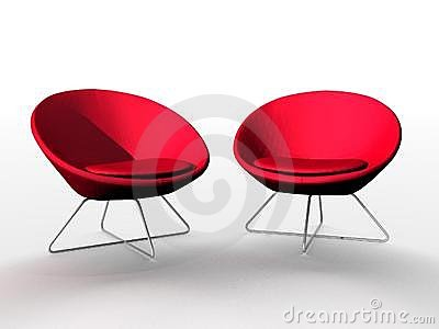 Luxurious red chairs
