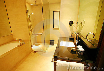 Luxurious resort bathroom