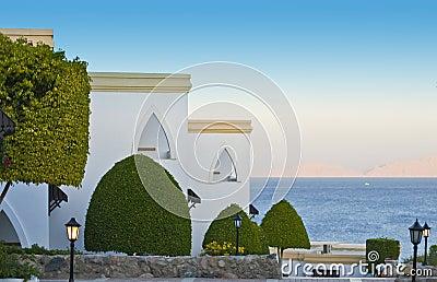 Luxurious resort hotel by sea