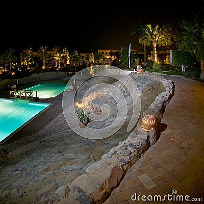 Luxurious resort swimming pool