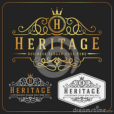 Free Luxurious Royal Logo Vector Re-sizable Design Template Stock Photography - 57131012
