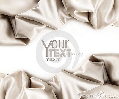 Luxurious satin fabric on white