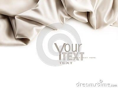 Luxurious satin fabric on white