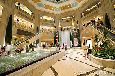 Luxurious shopping mall Editorial Stock Photo