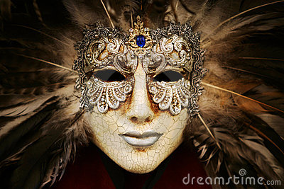Luxurious silver mask