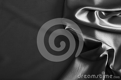 Luxurious silver satin/silk