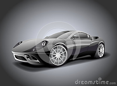 Luxurious sports car