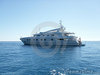 Luxurious yacht close up