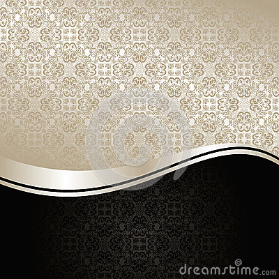 Luxury Background: Silver And Black. Royalty Free Stock ...