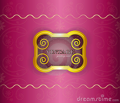 Luxury background - vintage frame on silk