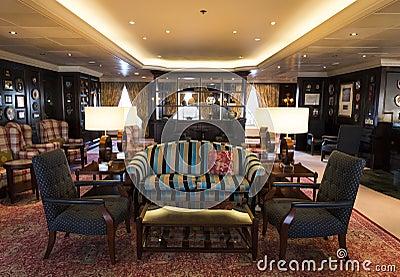 Luxury bar on cruise ship