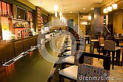 Luxury bar restaurant Editorial Stock Photo